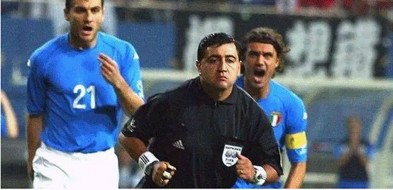 历史最黑黑哨17年后认错 世界杯帮韩国淘汰意大利
